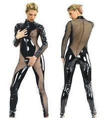 plus size costume mascot big plus size women mesh lycra jumpsuit cat