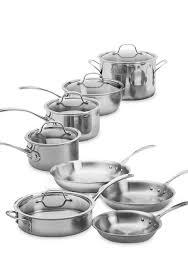 calphalon tri ply stainless steel 13 piece cookware set belk