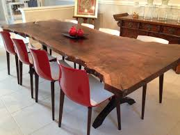 Living Edge Dining Table Dining Room Dark Wood Live Edge Dining Table With Fiber Dining