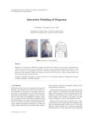 interactive modeling of muqarnas pdf download available