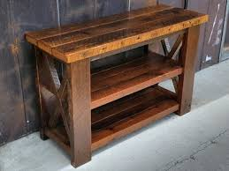 Wood Entry Table Custom Console Entry Tables Reclaimed Wood Arcadia Salvage