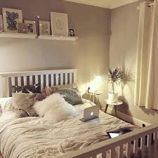 Simple White Bed Frame White Furry Pillow Simple White Curtain White Wooden Bed Frame