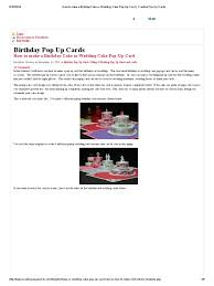 3d Hole Murals 3d Cake Image How To Make A Birthday Cake Or Wedding Cake Pop Up Card Creative