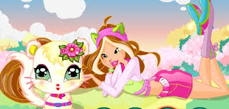 winx club fashion bloom flora game play princess