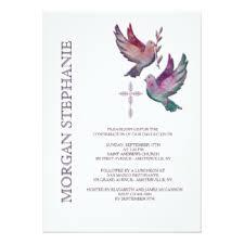 religious invitations dove invitations announcements zazzle
