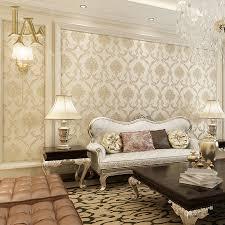 Wallpaper In Home Decor Aliexpress Com Buy European Vintage Embossed Gold Glitter Damask