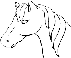 horse face coloring page and eson me