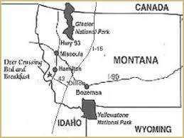 bitterroot mountains map about hamilton montana lodging at deer crossing bed and breakfast