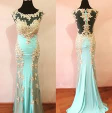 Blue Prom Dresses Chiffon Prom Gowns Lace Prom Dresses 2016 Party