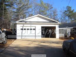 Covered Garage by New Detached Garage Built In Flowery Branch Ga Curb Appeal