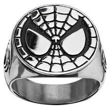 men u0027s marvel spider man stainless steel engraved face ring target