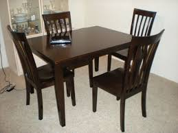 Plank Dining Room Table Dark Wood Dining Room Table And Chairs Alliancemv Com