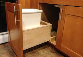 Under Kitchen Sink Pull Out Storage by Under Sink Garbage Pull Out Traditional Kitchen New York
