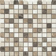 Tile Floor In Spanish by Faber 12 In X 12 In Spanish Blend Marble Mosaic Natural Stone Wall