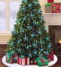 blue white resin starfish tree ornaments completely coastal