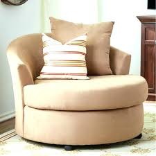 swivel chair living room furniture plush round chairs for living