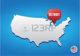 map usa detroit detroit on usa map royalty free cliparts vectors and stock