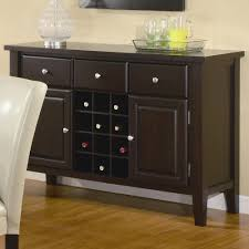 amazon com coaster carter buffet style server in dark brown wood