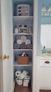 bathroom and closet designs organized linen closet