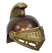 amazon com kid u0027s gold brown plastic roman trojan costume helmet