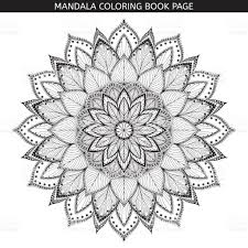 mandala coloring book pages indian antistress medallion white