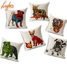 hyha dog cosplay cushion cover funny iron man dog hulk raytheon