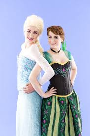 unleash frozen fever wearing anna elsa bff