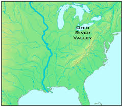 ohio river valley map and indian war megan