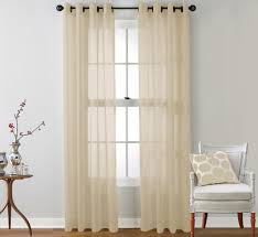 amazon com hlc me 2 piece sheer window curtain grommet panels