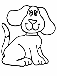 simple animal coloring pages simple dog coloring applique