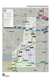 Brea Mall Map Metro Releases Latest Crenshaw Lax Transit Corridor Map The Source