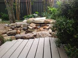 my new waterfall and grotto getting grounded