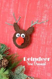 christmas yarn craft reindeer ornaments this mama loves