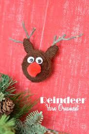 yarn craft reindeer ornaments this