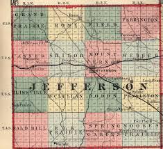 Iowa Illinois Map Jefferson County Illinois Maps And Gazetteers