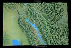 Maps Montana by Relief Maps Montana Crash Site Relief Map Howard Models