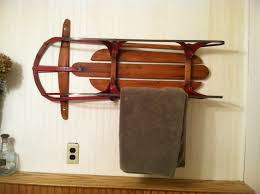 Bathroom Towel Hanging Ideas by Old Sled Used As A Bathroom Towel Rack Recycling Old Things