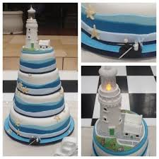 lighthouse cake topper nautical themed wedding cake with lighthouse topper cake by
