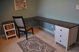 Diy L Desk White Craft Room Build Diy Projects