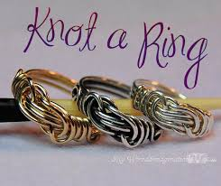 simple wire rings images Knot a ring diy wire wrap ring pattern jewelry tutorial my jpg