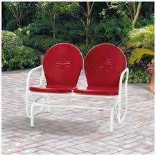 outdoor bench glider swing seat patio garden furniture rocking