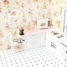 Dolls House Kitchen Furniture Dolls House Kitchen Furniture Aliexpress Com Buy Mini Wood