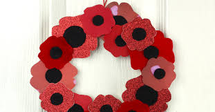 remembrance day poppy wreath craft this west coast mommy