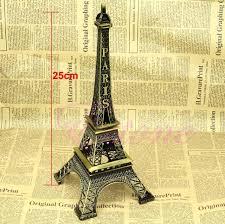 Eiffel Tower Garden Decor Alloy Model Decor Vintage Bronze Tone Paris Eiffel Tower Figurine