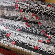grand jeté de canapé plaid couverture jeté de canapé en patchwork bandes à gogo n 3