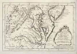 Chesapeake Bay Map File Amh 8058 Kb Map Of Chesapeake Bay And Environs On The West