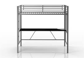 dhp furniture twin metal loft bed with desk
