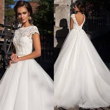 lace top wedding dress discount low price but high quality backless sleeve