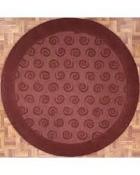 4x4 Area Rugs Handmade Circular Swirl Area Rug In Plum 4x4 Area Rug Los