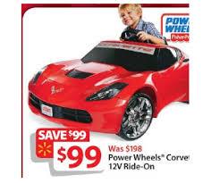 corvette power wheels power wheels corvette 12v ride on deal at walmart black friday is